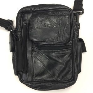 Black Vegan Faux Leather Belt Bag Fanny Pack